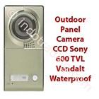 Outdoor 1 Indoor 2 : Video Door Phone Touchscreen & Handsfree Color Ccd Sony 600 Tvl 2