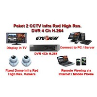 Paket CCTV 2 Kamera Infra Red High Resolusi - CCD Sony Effio-E 750TVL Hard Disk 1TB Buatan Taiwan