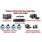 Paket CCTV 4 Kamera Infra Red High Resolusi Effio-E 750 TVL Hard Disk 1 TB Original Made in Taiwan 1