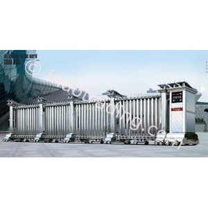 Dari Stainless Steel Retractable Electronic Folding Gate Vs-02 0