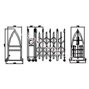 Dari Stainless Steel Retractable Electronic Folding Gate Kupai 1