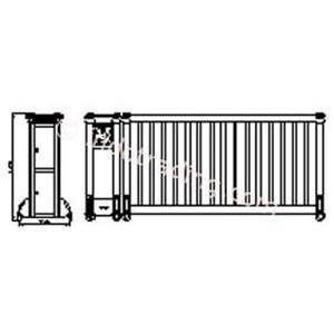 Dari Aluminium Retractable Electric Folding Gate X5-1C 3