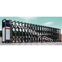 Aluminium Retractable Electronic Folding Gate H5-4B