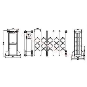 Dari Aluminium Retractable Electronid Folding Gate X6-1 1