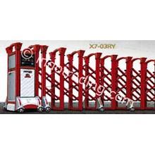 Aluminium Retractable Electronic Folding Gate X7-03Ry