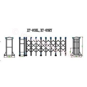 Dari Aluminium Retractable Electronic Folding Gate X7-03Ry 1