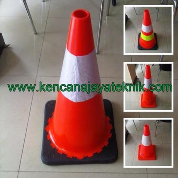 Kerucut Lalu Lintas - Traffic Rubber Cone - Keamanan Jalan Kendaraan