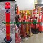 Rubber Stick Cone - Delineator Pembatas Parkir - Keamanan Jalan Kendaraan 1