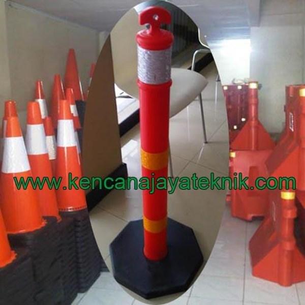 Rubber Stick Cone - Delineator Pembatas Parkir - Keamanan Jalan Kendaraan