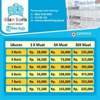Iklan baris Koran Tribun Jogja By Comma Advertising