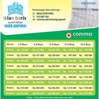 Iklan Baris koran SOLOPOS By Comma Advertising