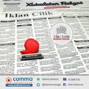 iklan baris rumah dijual di Koran KR Jogja By Comma Advertising