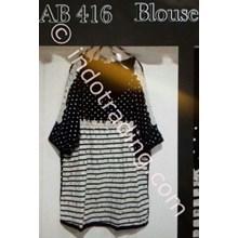 Blouse Wanita Korea Ab 416