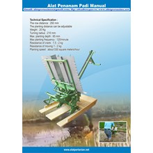 Alat Tanam Padi Manual - Manual Rice Transplanter