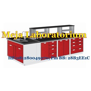 Meja Laboratorium BesiSteel Island Bench with Sink
