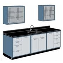 Wall Bench Sink and Rack Meja Lab with Sink and Rack
