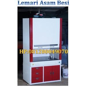 Lemari Asam Besi Fume Hood Steel