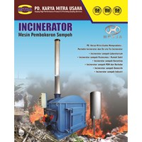 Incinerator atau Insinerator Kapasitas 30 kg Double Burner with Scrubber