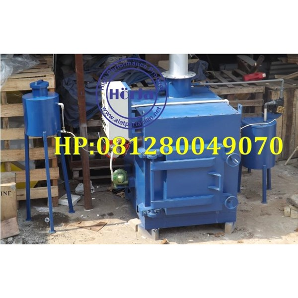Spesifikasi Incinerator atau Insinerator Kapasitas 100 kg Double Burner With Scrubber