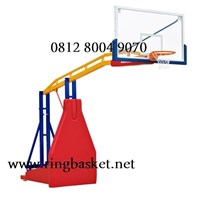 Ring Basket Portable Hidrolik Manual (Bisa Naik Turun dan Dipindah-Pindah)