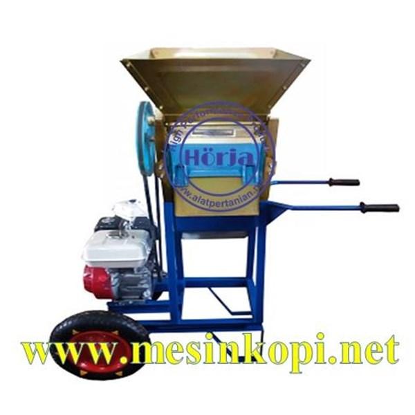 Mesin Pengupas Kulit Kopi Basah Pakai Roda (Mesin Pulper Portable dengan Roda)