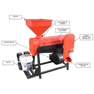 Mesin Pengupas Kulit Tanduk Kopi Kering  Mesin Huller Kopi Material Stainless Steel