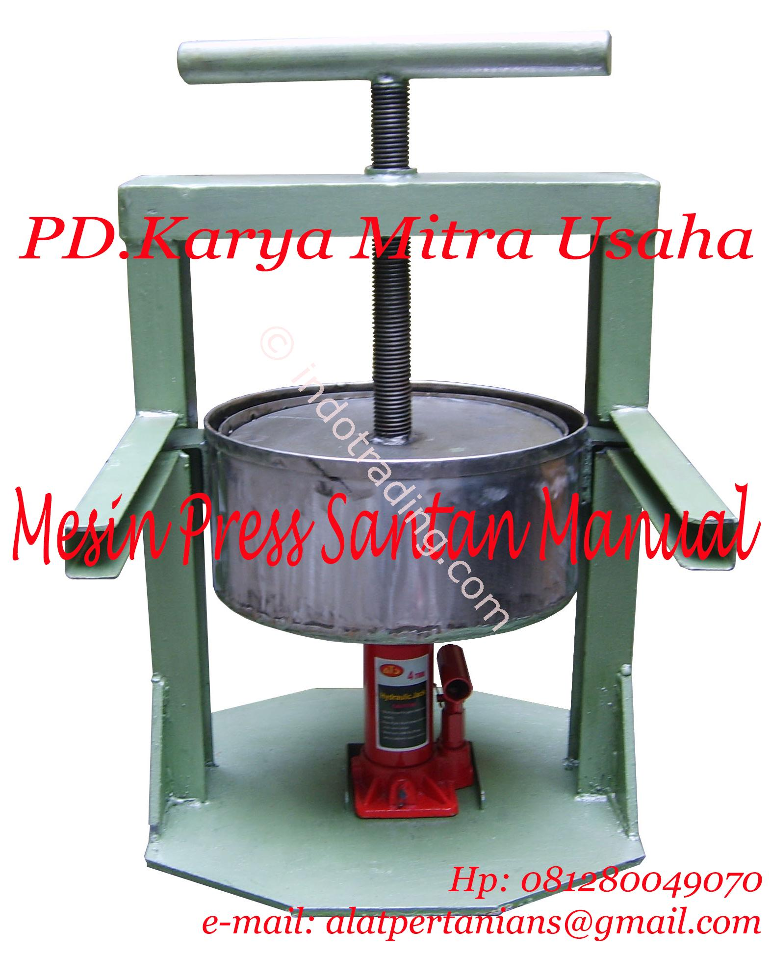 Sell Coconut Milk Press Machine Manual From Indonesia By