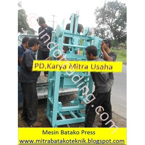 Mesin Paving Blok Manual