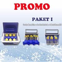 Cooler box 5 liter PAKET I Free 6 BOTOL SUSU ASI + Ice Pack Lekuk 1