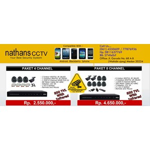 Paket Cctv Nathans 4 Camera  850Tvl