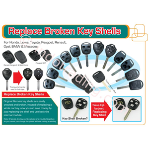 Replace Broken Key Shells