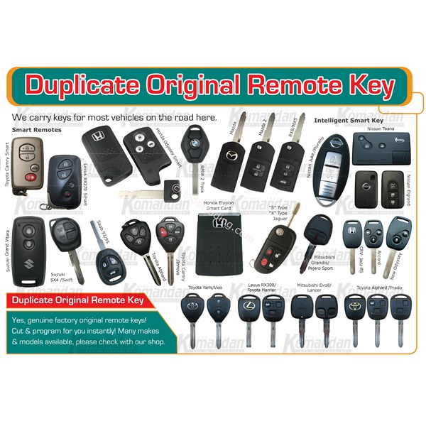 Original Remote Key Duplicate