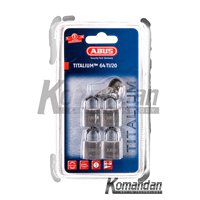 Gembok ABUS 64TI/20mm Titalium Outdoor Padlock 4 Units