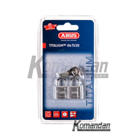GEMBOK ABUS 64TI/20mm Titalium Outdoor Padlock 2 Units