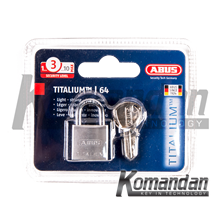 ABUS 64TI/20mm Titalium Outdoor Padlock