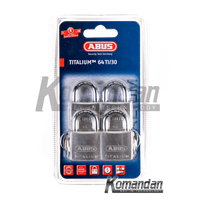GEMBOK ABUS 64TI/30mm Titalium Outdoor Padlock 4 Units