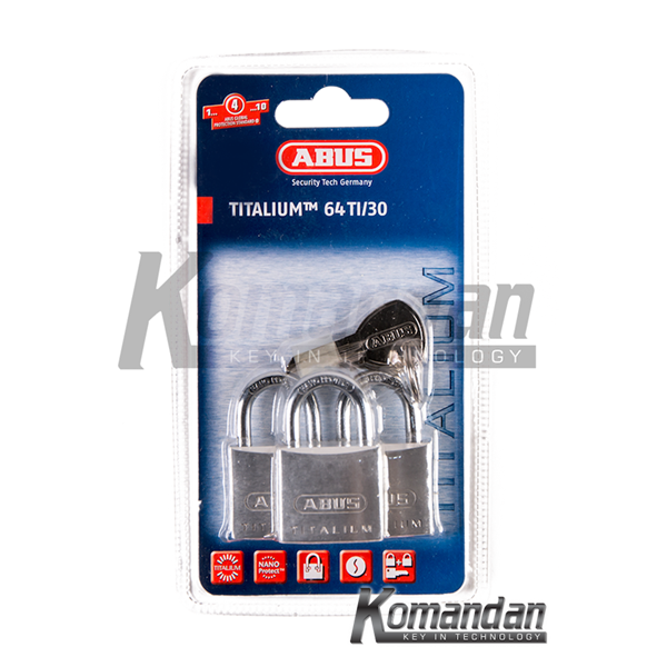 GEMBOK ABUS 64TI/30mm Titalium Outdoor Padlock 3 Units