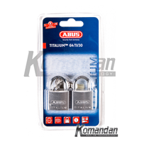 Gembok ABUS 64TI/30mm Titalium Outdoor Padlock 2 Units