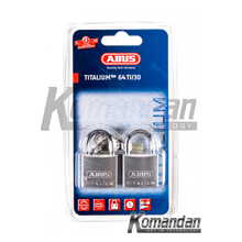 ABUS 64TI/30mm Titalium Outdoor Padlock 2 Units