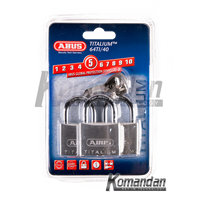Gembok ABUS 64TI/40mm Titalium Outdoor Padlock 3 Units