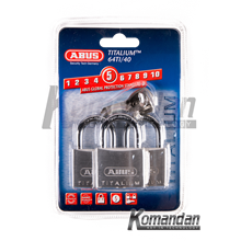 ABUS 64TI/40mm Titalium Outdoor Padlock 3 Units