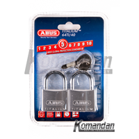 GEMBOK ABUS 64TI/40mm Titalium Outdoor Padlock 2 Units