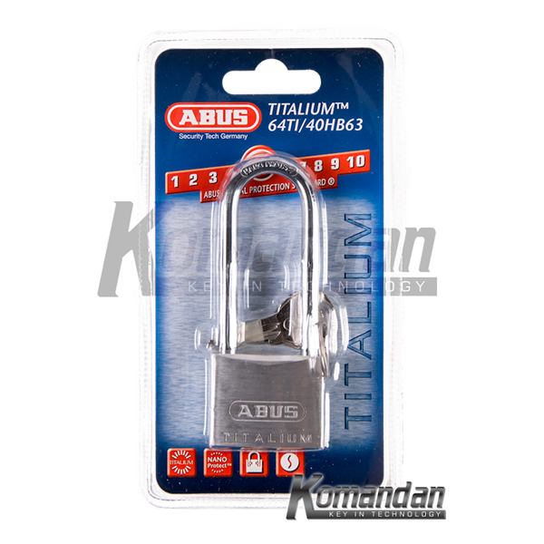 ABUS 64TI/40HB63 Titalium Outdoor Long Shackle Padlock