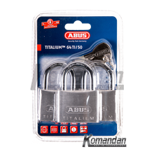 ABUS 64TI/50mm Titalium Outdoor Padlock 3 Units