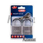 ABUS 64TI/50mm Titalium Outdoor Padlock 2 Units 1