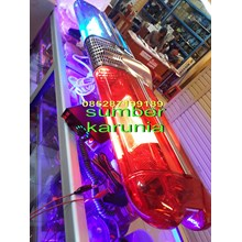 lampu rotator polisi biru-biru-merah-biru-merah-merah-kuning-kuning
