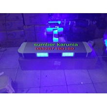 lampu rotator polisi tbd 5000 biru-merah