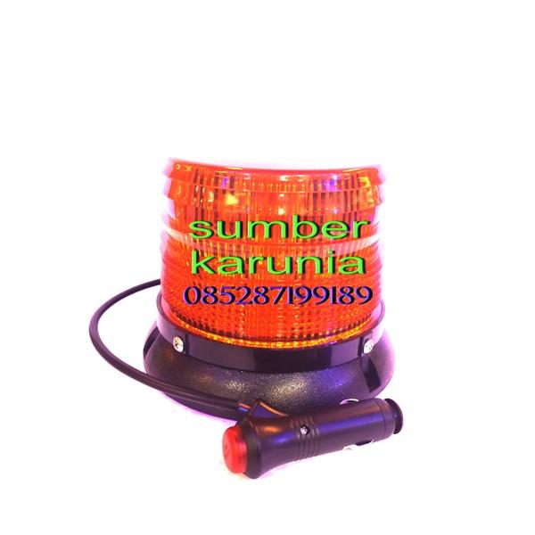 Lampu Strobo LED Merah 12V Magnet