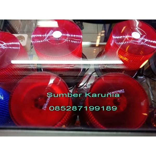 Lampu Rotary Led Thunderbolt 6 Inch Merah