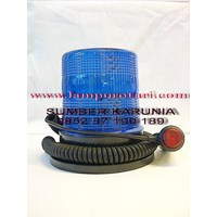 Distributor lampu rotari 12v led biru 3